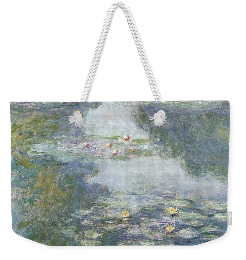 Pads Weekender Tote Bag featuring the painting Waterlilies by Claude Monet