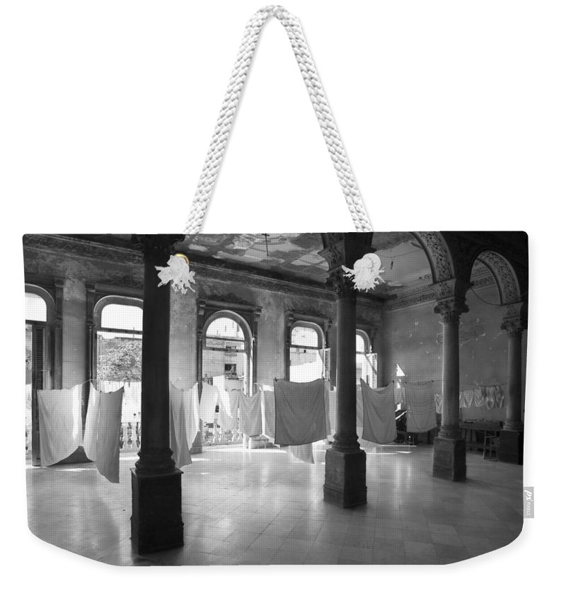 Still Life Weekender Tote Bag featuring the photograph Wedding Party Noir by Pierre Logwin