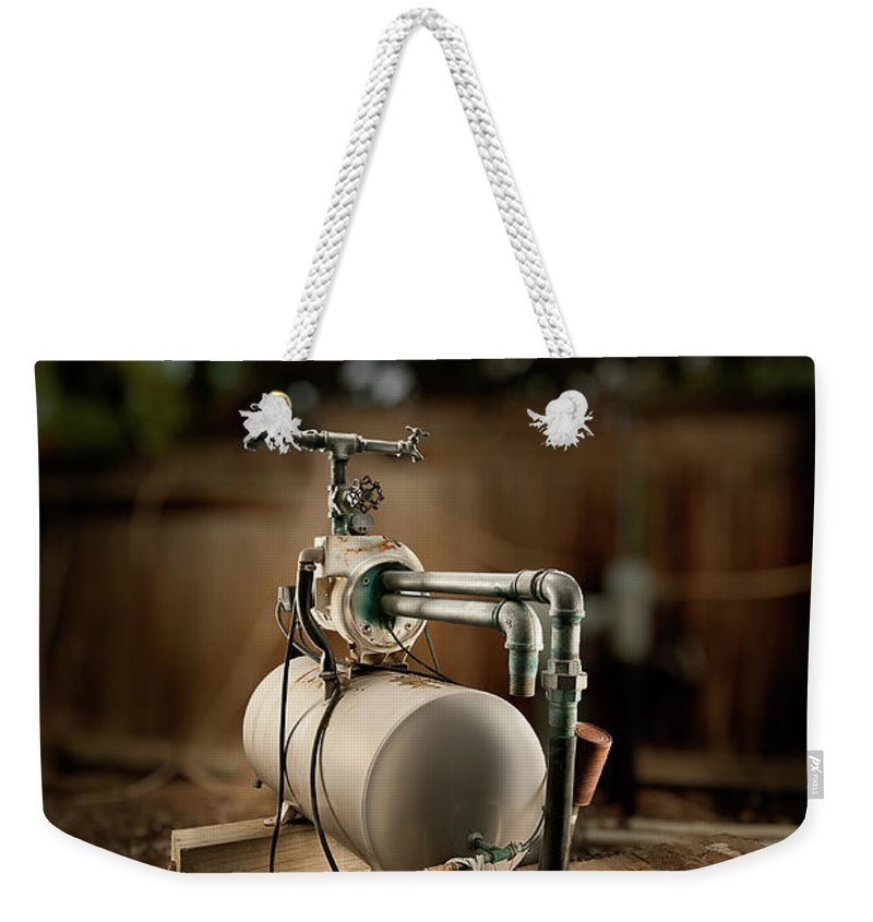 Mechanical Weekender Tote Bag featuring the photograph Well Pump by Yo Pedro