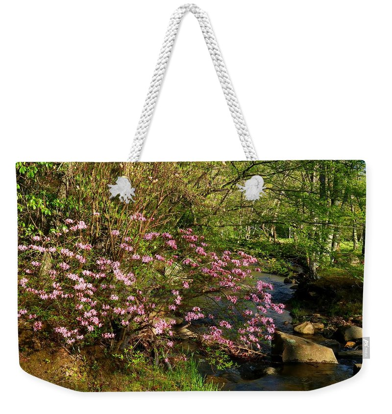 Azalea Weekender Tote Bag featuring the photograph Wild Piedmont Azalea by Kathryn Meyer