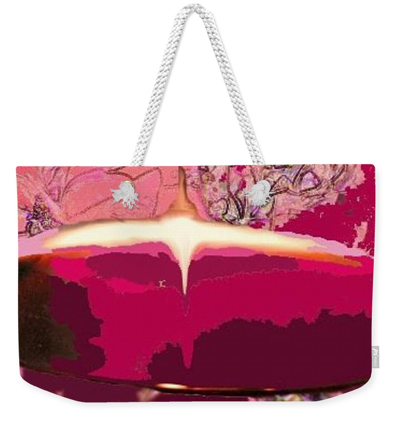 Wine Weekender Tote Bag featuring the photograph Wine And Roses by Ian MacDonald