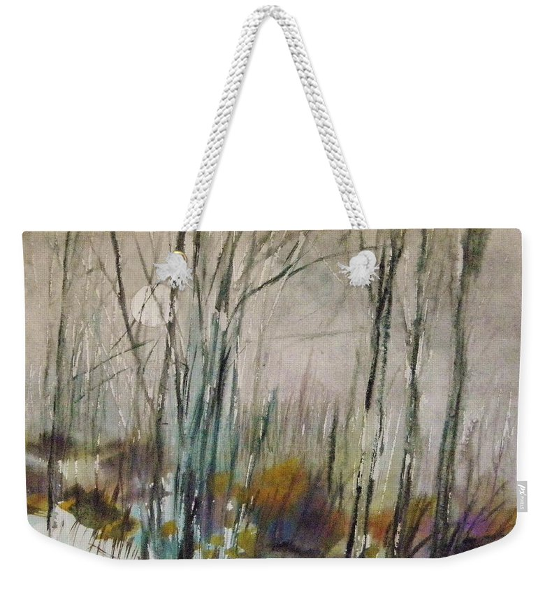 Winter Afternoon Weekender Tote Bag featuring the painting Winter Afternoon by John Williams