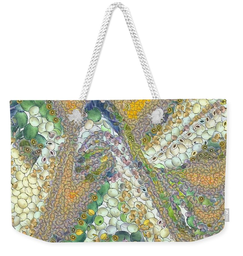 Winter Weekender Tote Bag featuring the painting Winter by Dragica Micki Fortuna