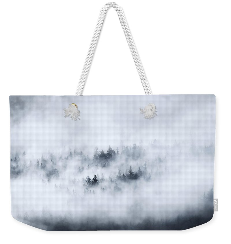 Fog Weekender Tote Bag featuring the photograph Winter Dawning by Mike Dawson