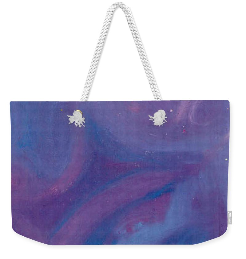 Weekender Tote Bag featuring the pastel Without Titel by Sitara Bruns