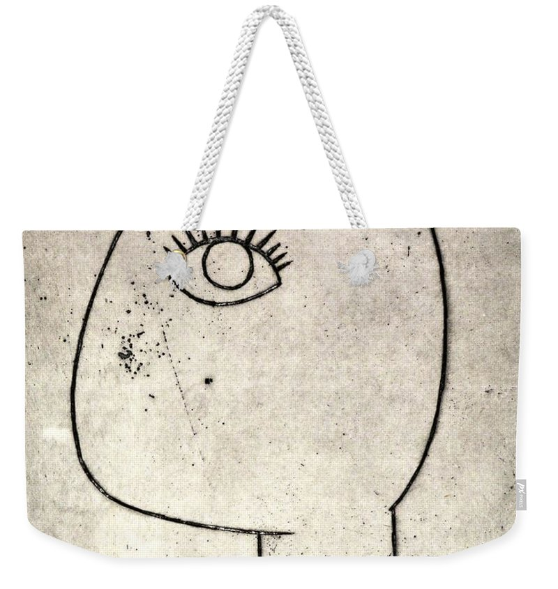 Clay Weekender Tote Bag featuring the painting Woman by Thomas Valentine