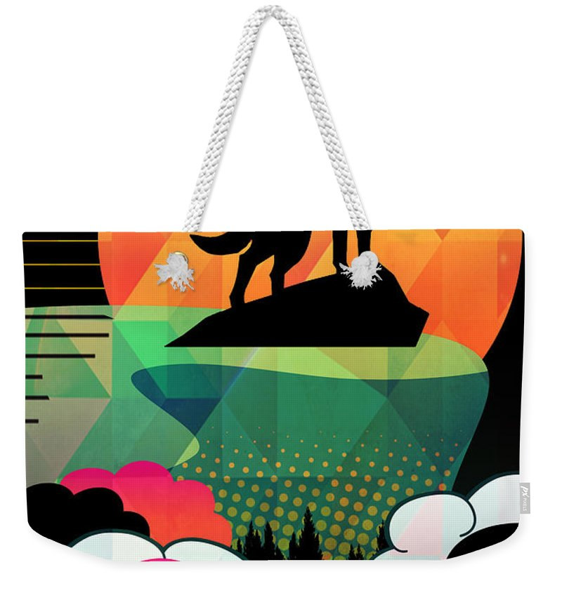 Woolf Weekender Tote Bag featuring the painting Dod by Mark Ashkenazi