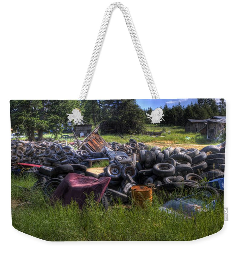 Automotive Weekender Tote Bag featuring the photograph Wrecking Yard Study 9 by Lee Santa