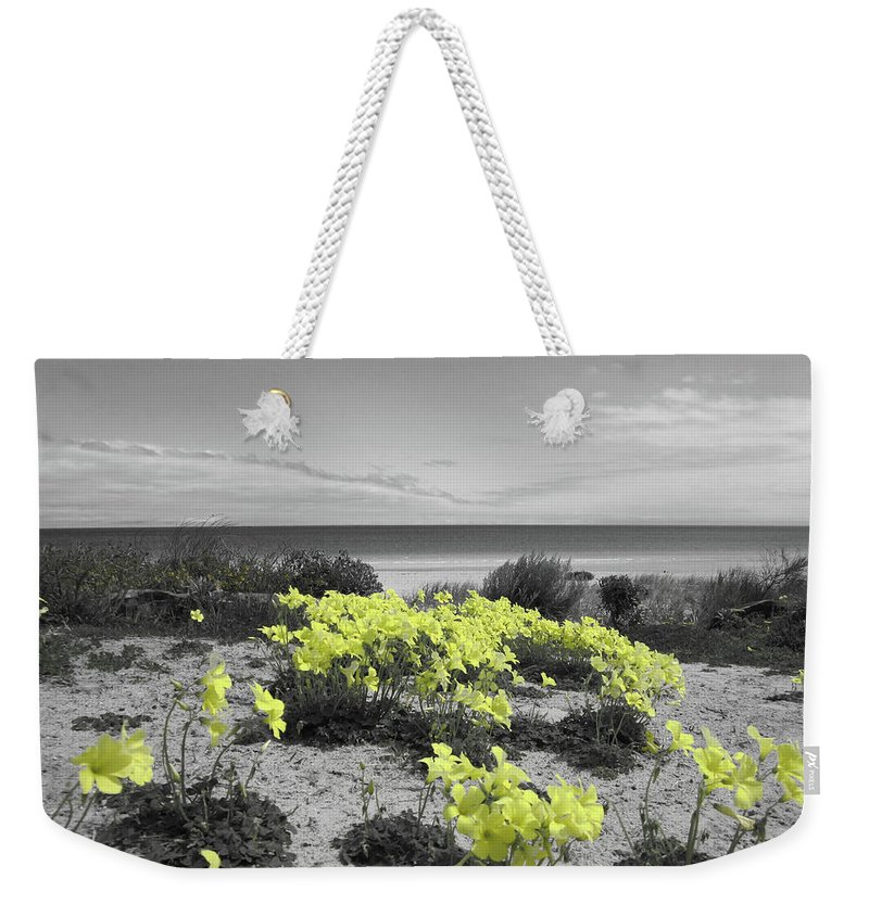 Flowers Weekender Tote Bag featuring the photograph Yellow by Douglas Barnard