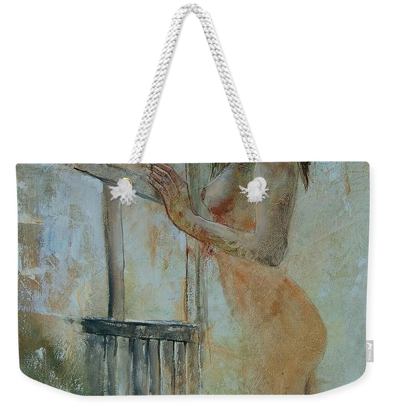 Gir Weekender Tote Bag featuring the painting Young Girl 57905062 by Pol Ledent