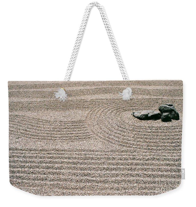 Zen Weekender Tote Bag featuring the photograph Zen Garden by Dean Triolo