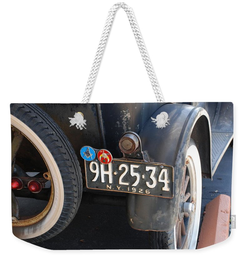 Numbers Weekender Tote Bag featuring the photograph 1926 Model T Ford by Rob Hans