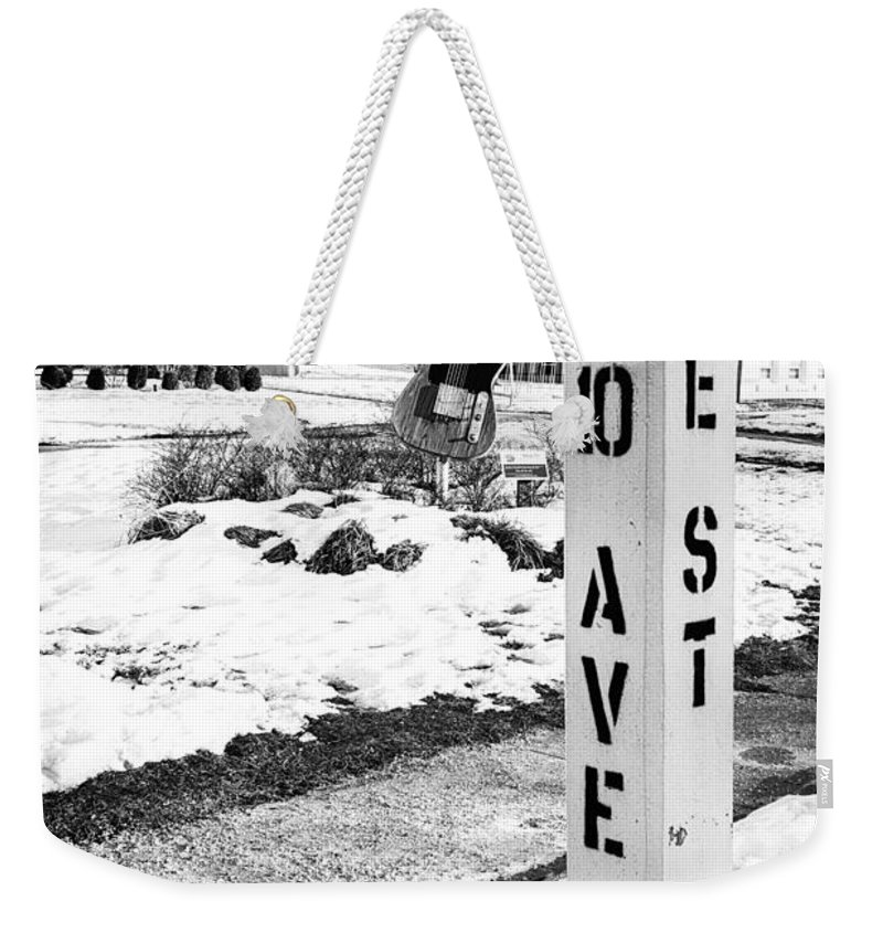 Terry D Photography Weekender Tote Bag featuring the photograph 10 Ave and E St Belmar New Jersey by Terry DeLuco