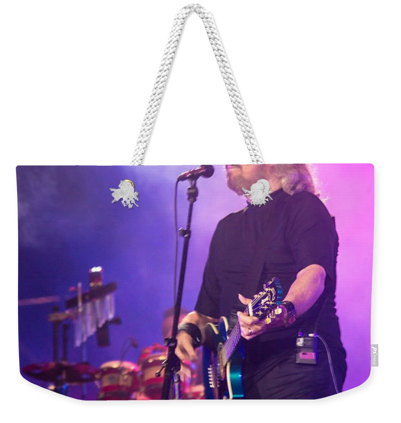 Barry Gibb Weekender Tote Bag featuring the photograph Barry Gibb by Rene Triay Photography
