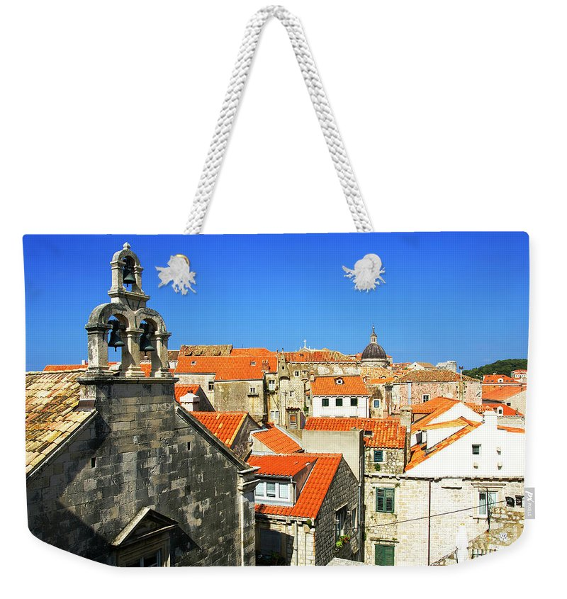 Roof Weekender Tote Bag featuring the photograph Croatia, Dubrovnik by Ruth Hofshi