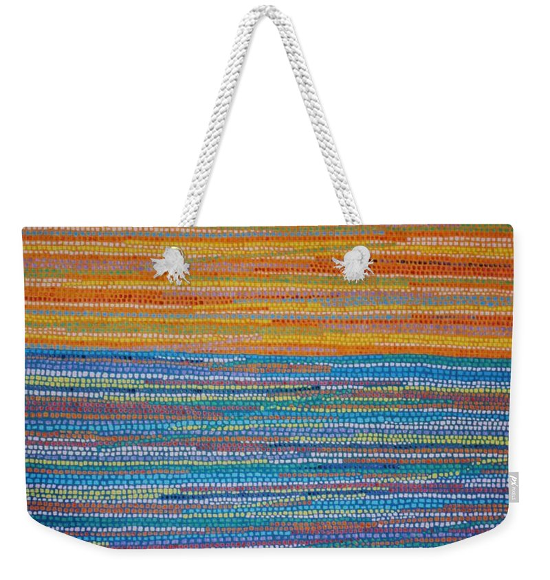 Inspirational Weekender Tote Bag featuring the painting Identity by Kyung Hee Hogg