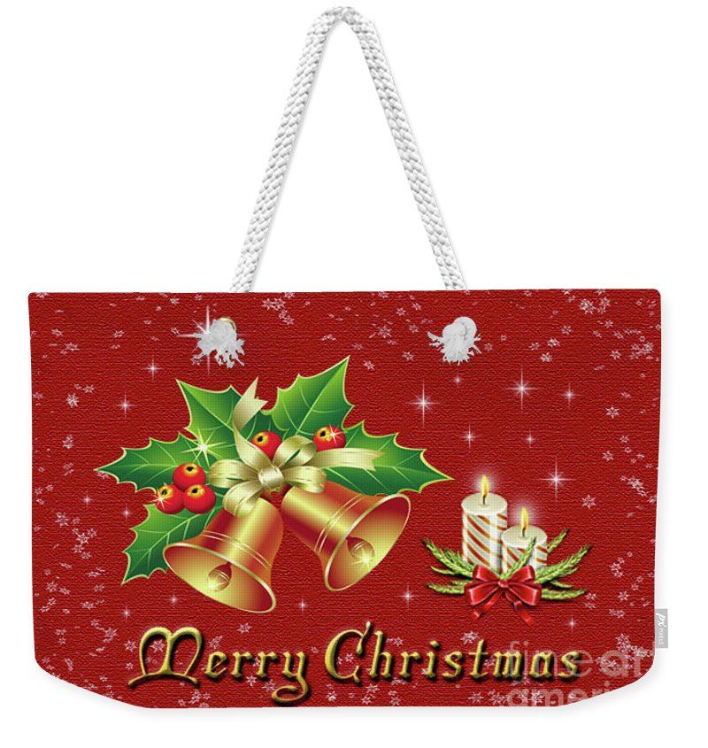 Christmas Weekender Tote Bag featuring the photograph Christmas Card 9 by Nina Ficur Feenan