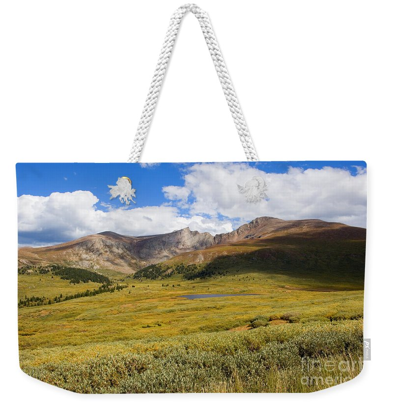 Mount Bierstadt Weekender Tote Bag featuring the photograph Mount Bierstadt In The Arapahoe National Forest by Steve Krull
