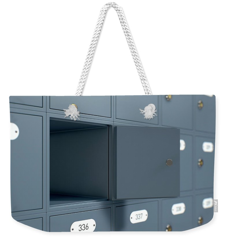 Nothing Weekender Tote Bag featuring the digital art Post Office Boxes by Allan Swart