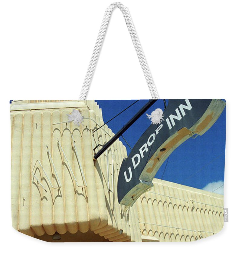 66 Weekender Tote Bag featuring the photograph Route 66 - Conoco Tower Station by Frank Romeo