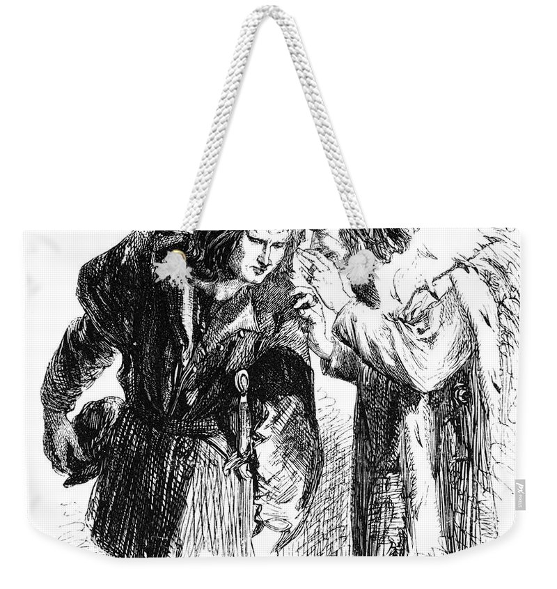 Catesby Weekender Tote Bag featuring the photograph Shakespeare: Richard IIi by Granger