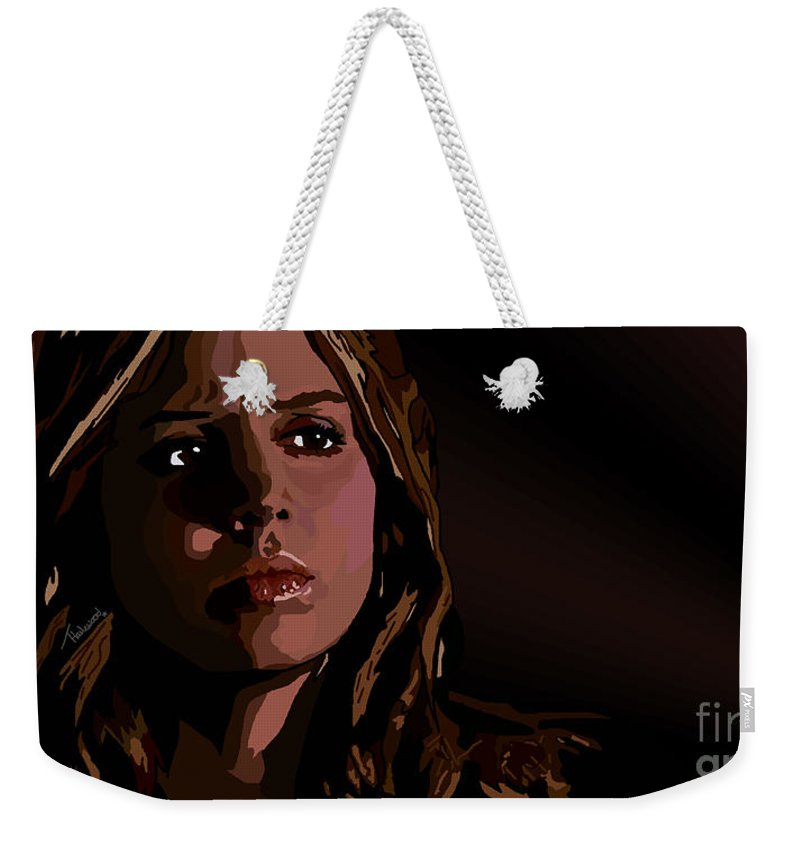 Faith Weekender Tote Bag featuring the digital art 101. I Say I Slay by Tam Hazlewood