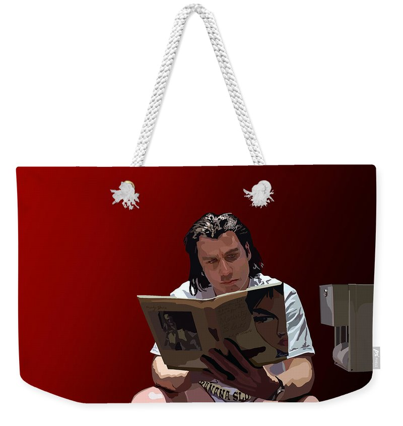 Pulp Fiction Weekender Tote Bag featuring the digital art 103. Have You Ever Given A Foot Massage by Tam Hazlewood