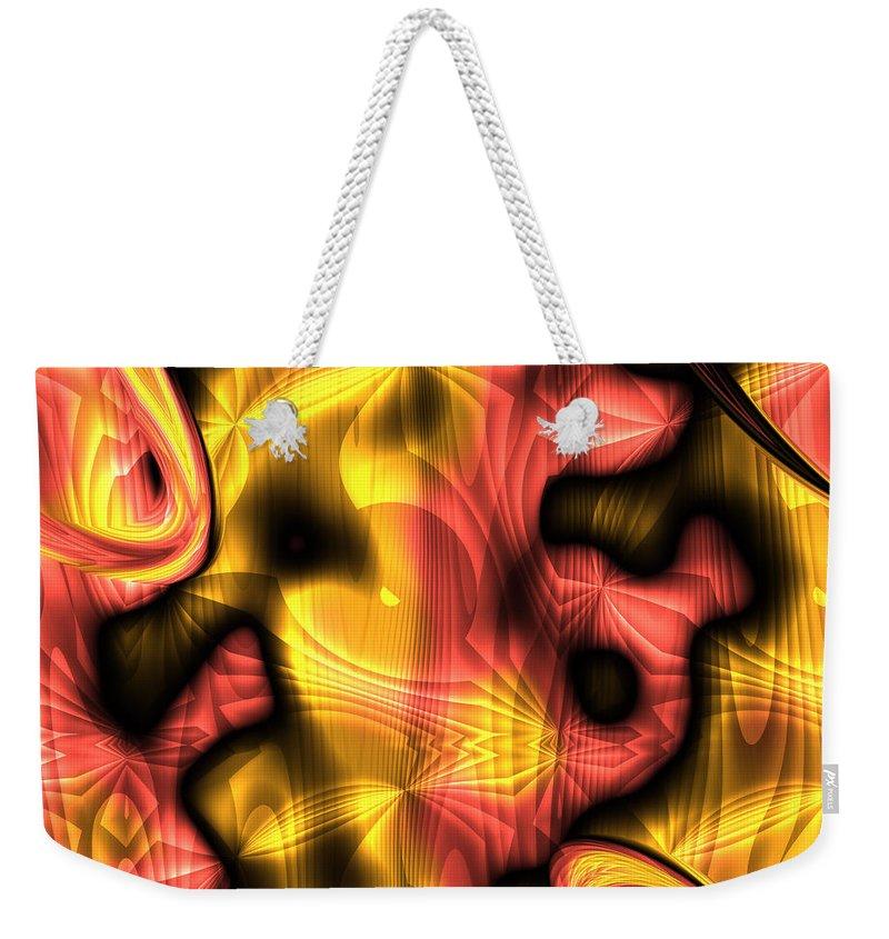 Abstract Weekender Tote Bag featuring the digital art Fractal Modern Art Seamless Generated Texture by Miroslav Nemecek