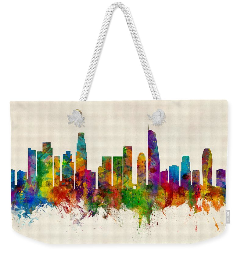 Los Angeles Skyline Weekender Tote Bags