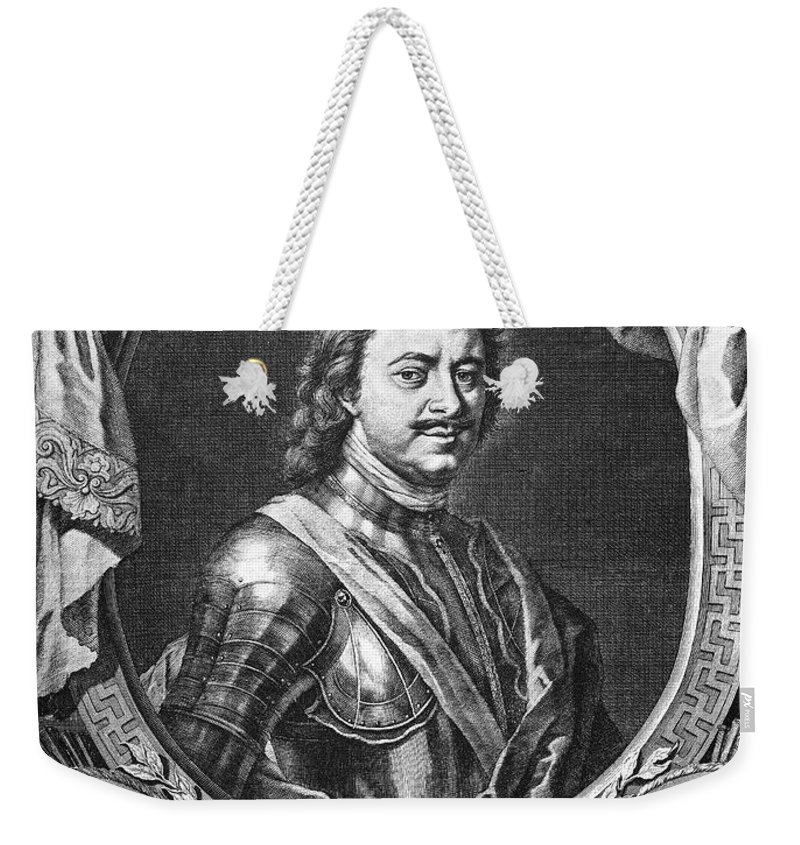18th Century Weekender Tote Bag featuring the photograph Peter I (1672-1725) by Granger