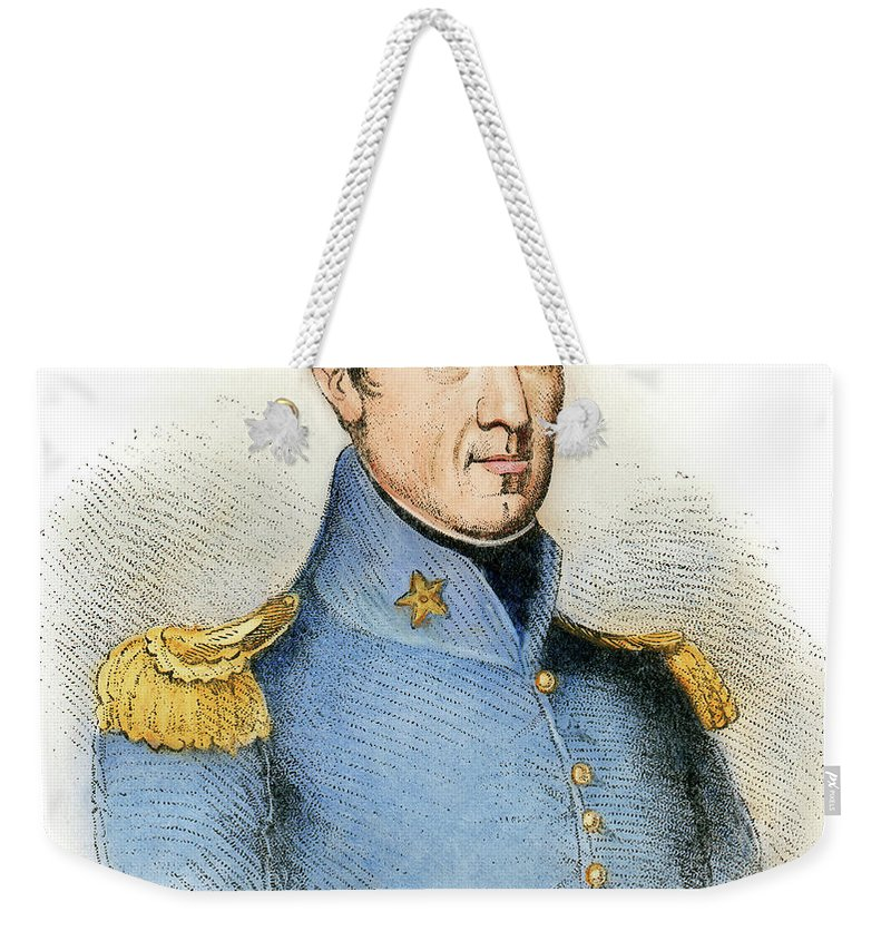 1837 Weekender Tote Bag featuring the drawing Sam Houston, 1793-1863 by Granger
