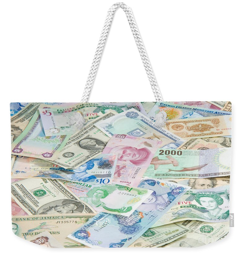 Money Weekender Tote Bag featuring the photograph Travel Money - World Economy by Anthony Totah