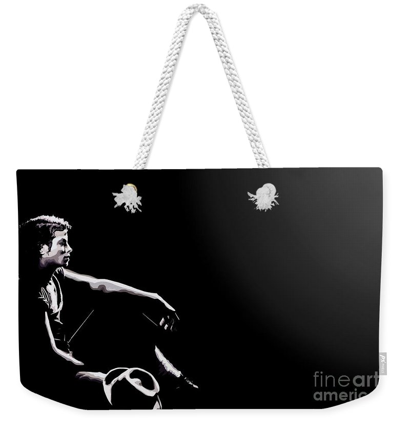 Micheal Jackson Weekender Tote Bag featuring the digital art 110. Just Leave Me Alone by Tam Hazlewood