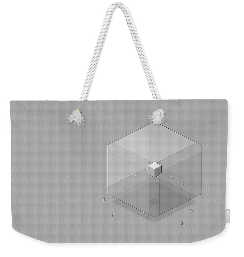 Unknown Weekender Tote Bag featuring the digital art Unknown by Mery Moon