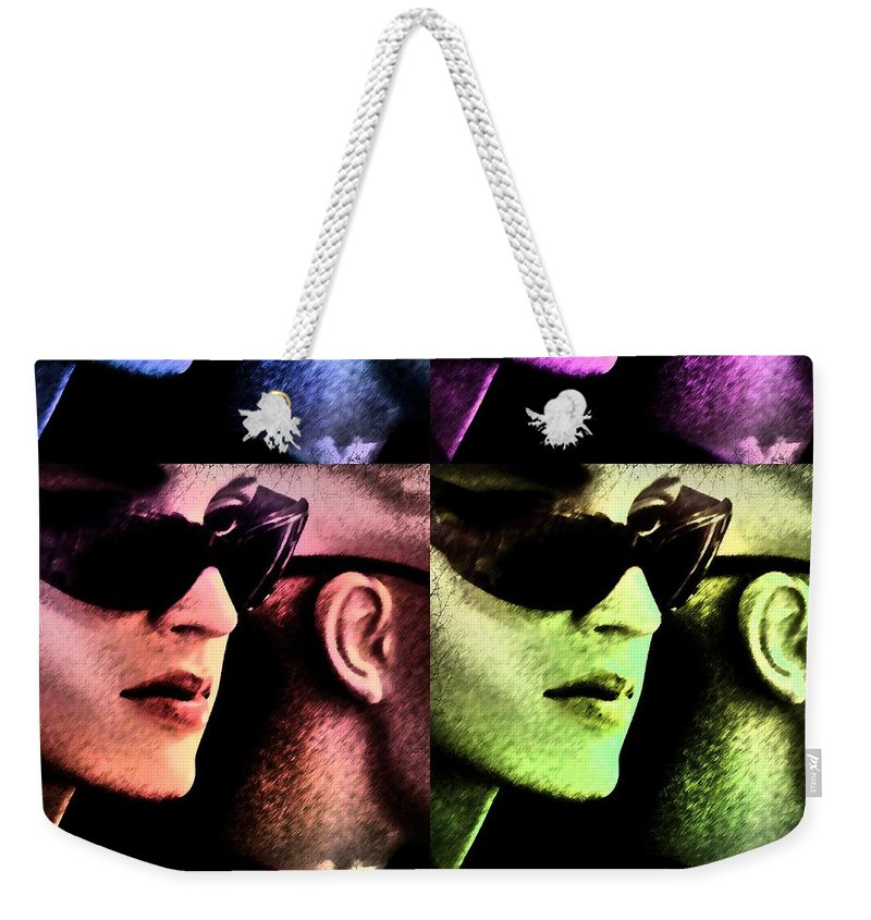 Popart Weekender Tote Bag featuring the photograph 11438 Mannequin Series 11-14 Can You Keep A Secret Pop Art 2 by Colin Hunt