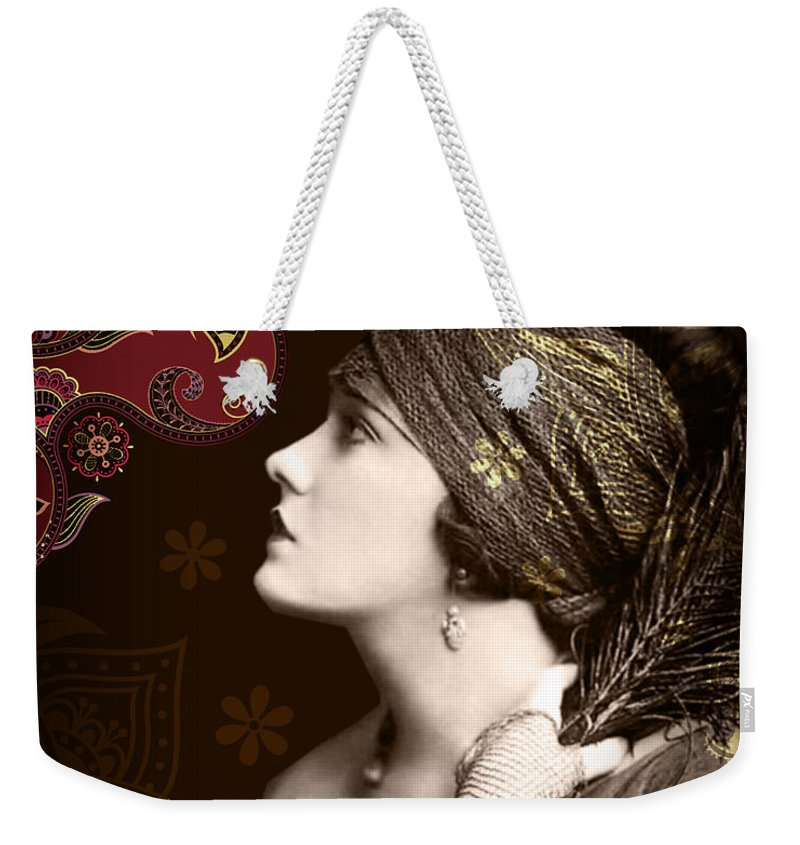 Nostalgic Seduction Weekender Tote Bag featuring the photograph Goddess by Chris Andruskiewicz
