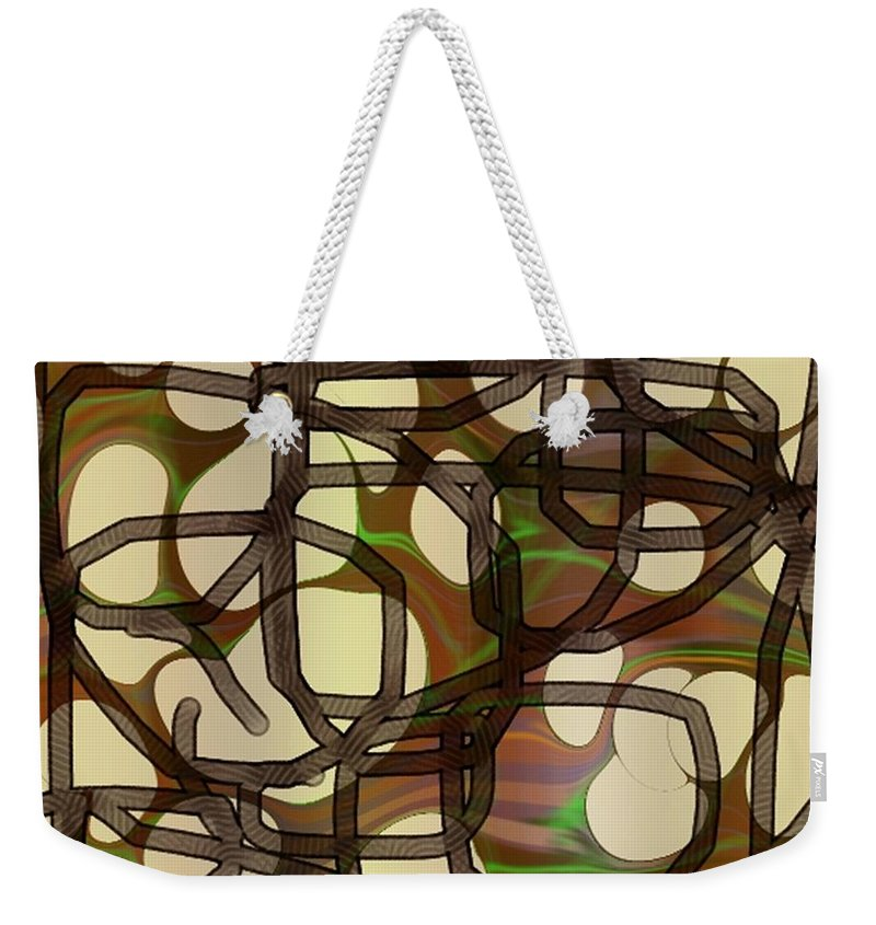 Abstract Art Weekender Tote Bag featuring the digital art 1197exp3 by Ron Bissett