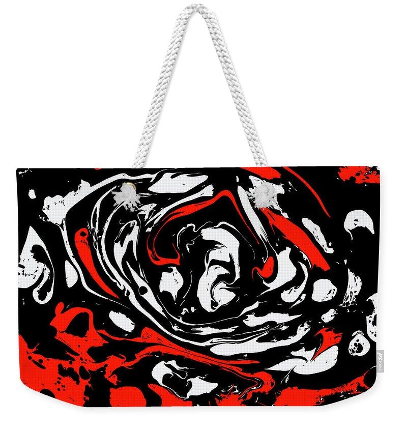 Marble Weekender Tote Bag featuring the painting #12 by Alina Debris