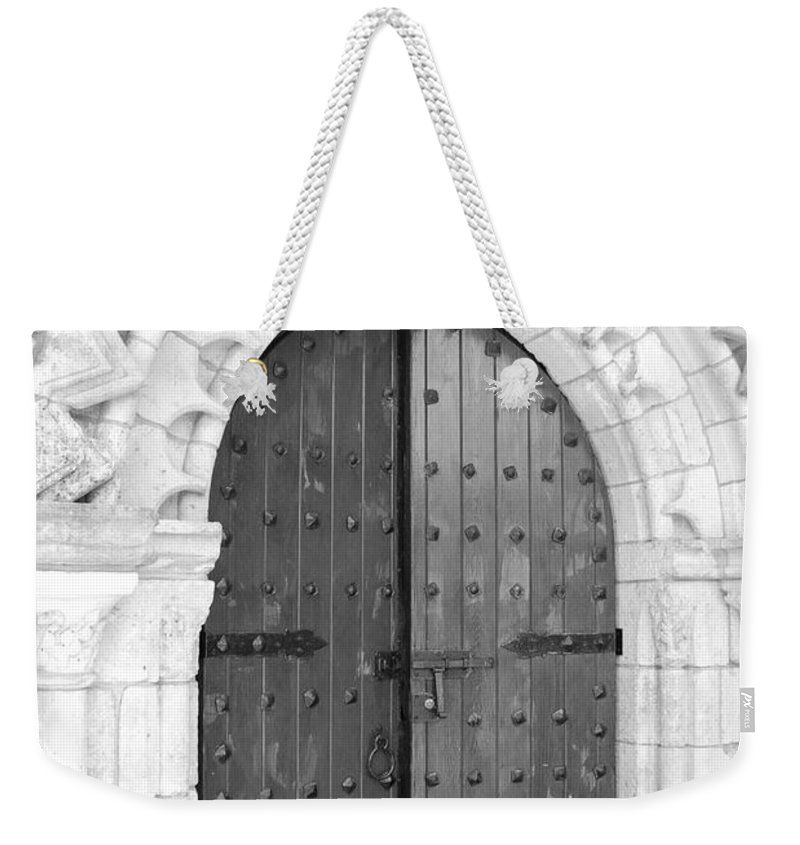 Wooden Doors Weekender Tote Bag featuring the photograph Miami Monastery by Rob Hans