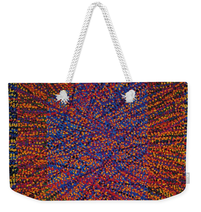 Inspirational Weekender Tote Bag featuring the painting Mobius Band by Kyung Hee Hogg