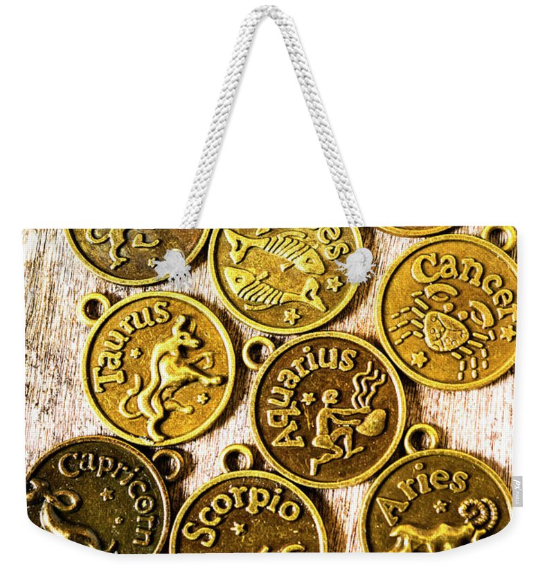 Astrology Weekender Tote Bag featuring the photograph 12 Wonders Of The Zodiac by Jorgo Photography - Wall Art Gallery