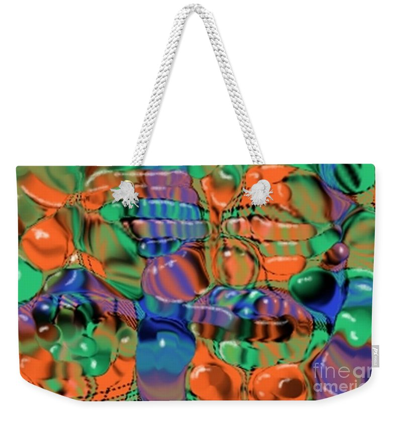Abstract Weekender Tote Bag featuring the digital art 1297exp1 by Ron Bissett