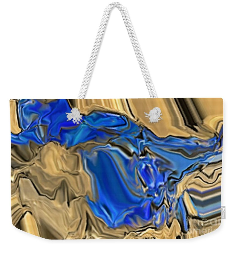 Abstract Weekender Tote Bag featuring the digital art 1297exp6 by Ron Bissett