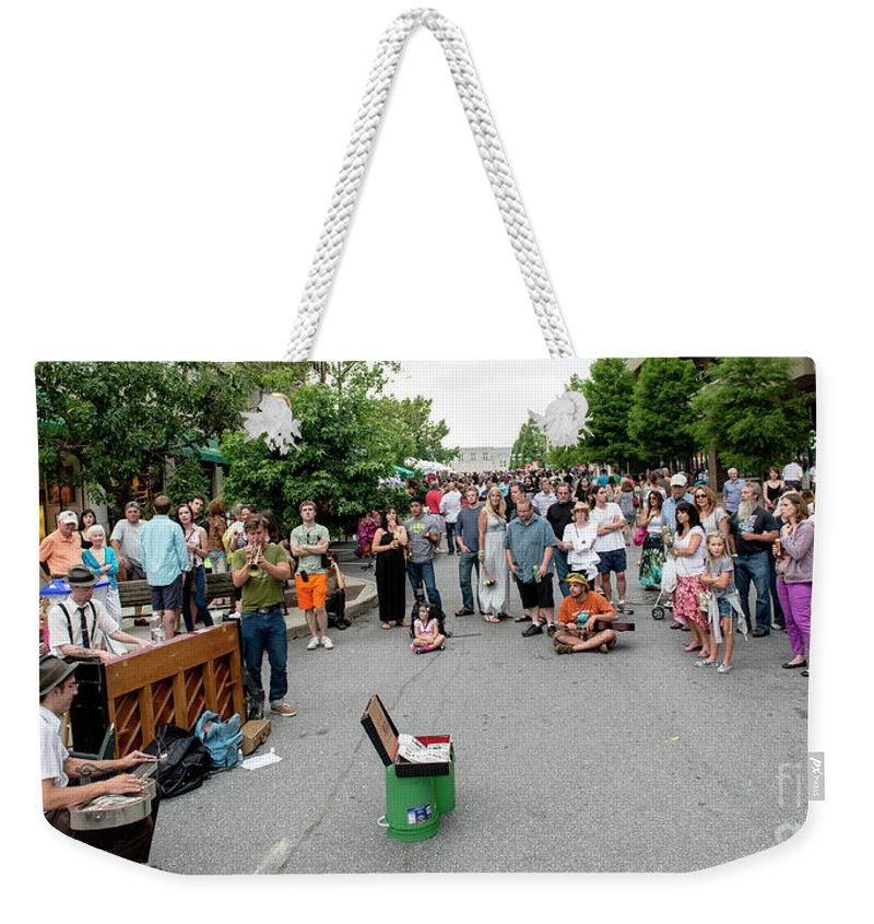 Asheville Weekender Tote Bag featuring the photograph Bele Chere Festival by David Oppenheimer