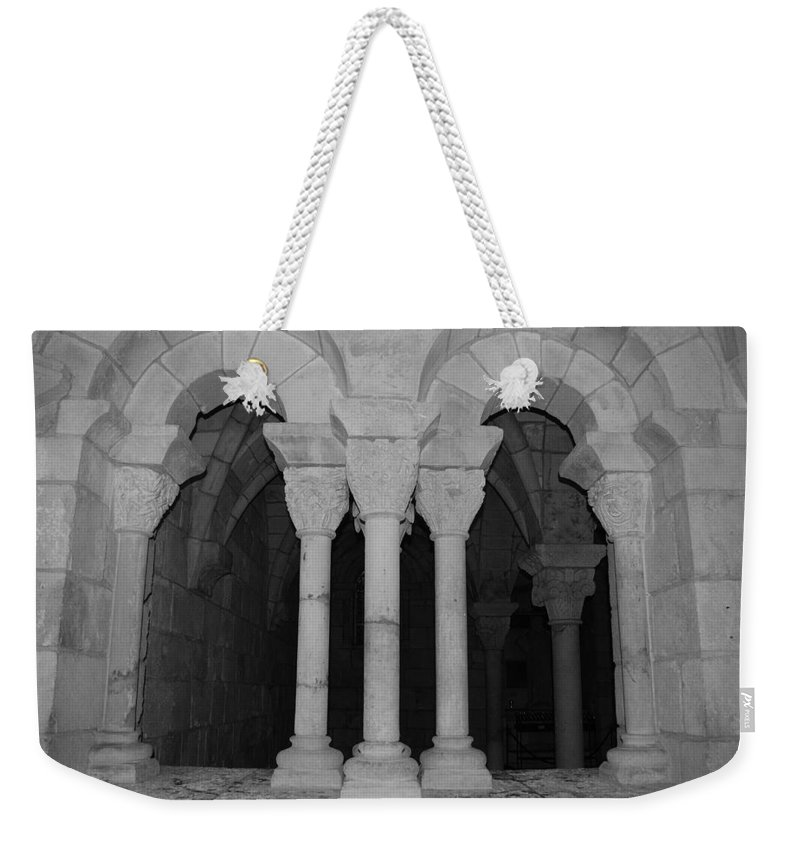Black And White Weekender Tote Bag featuring the photograph Miami Monastery by Rob Hans