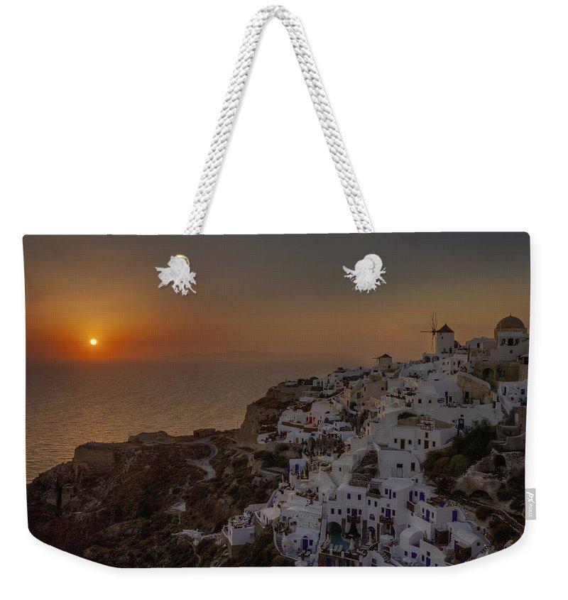 Oia Weekender Tote Bag featuring the photograph Oia - Santorini by Joana Kruse