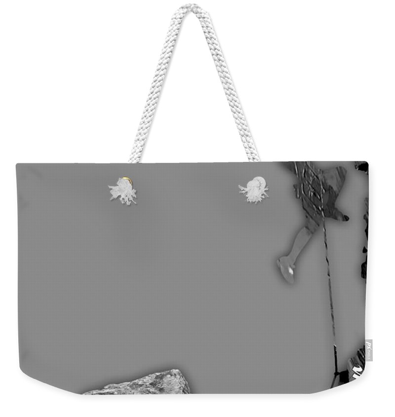 Rock Climber Weekender Tote Bag featuring the mixed media Rock Climber Collection by Marvin Blaine