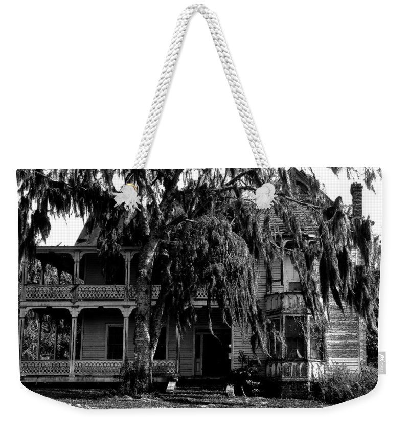 House Weekender Tote Bag featuring the painting 13th House On 13th Street by David Lee Thompson