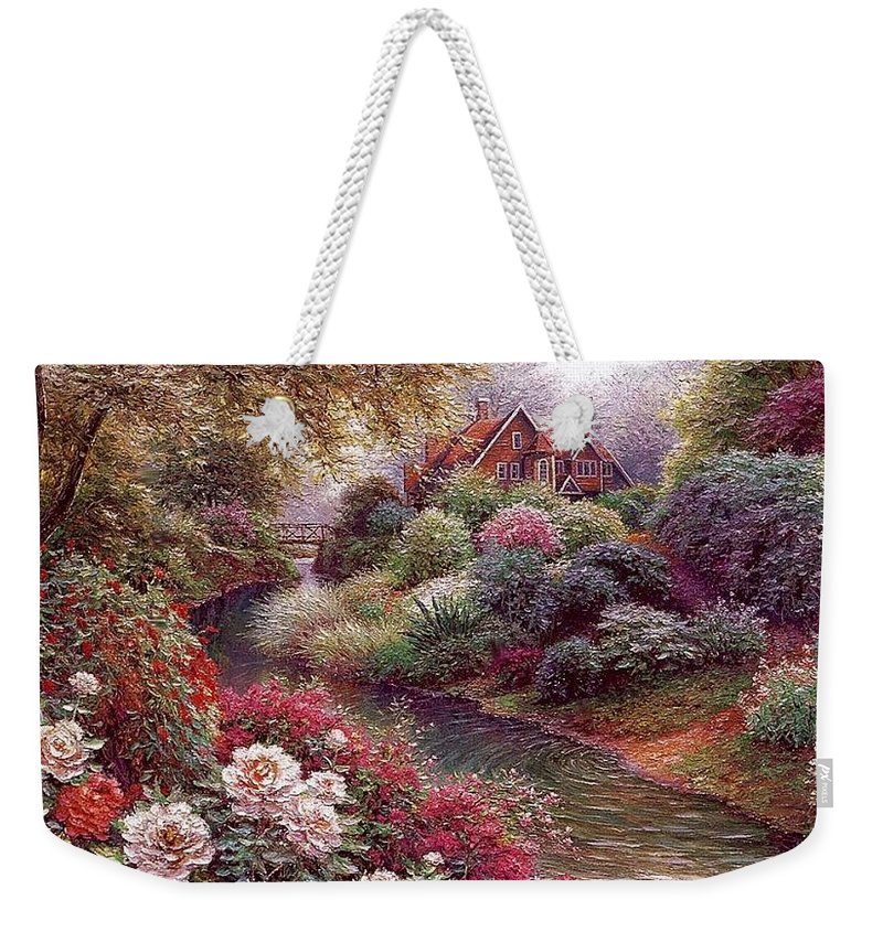 Shrub Weekender Tote Bag featuring the digital art lrs Peeters Henry No Tltle Henry Peeters by Eloisa Mannion