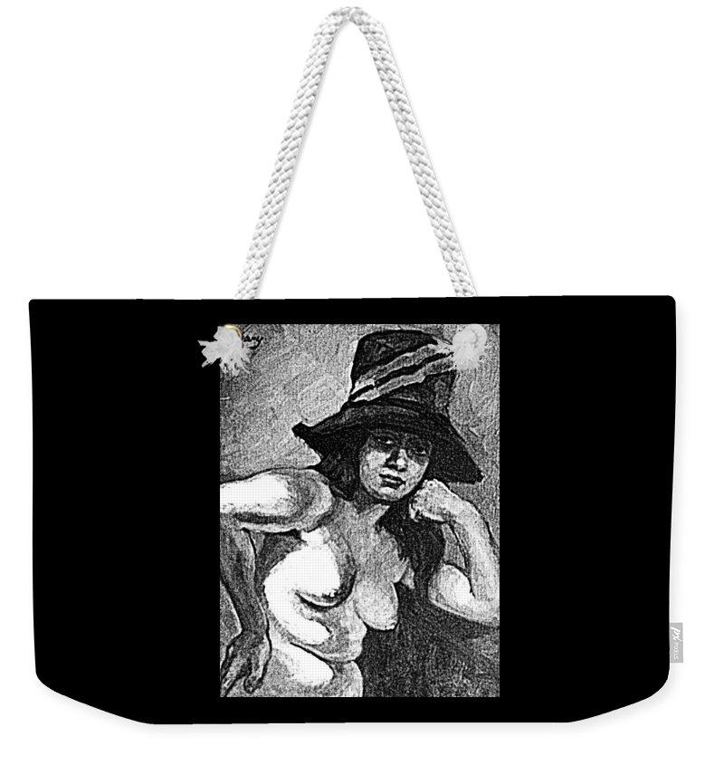 Pinups Weekender Tote Bag featuring the digital art Pinup by ReInVintaged
